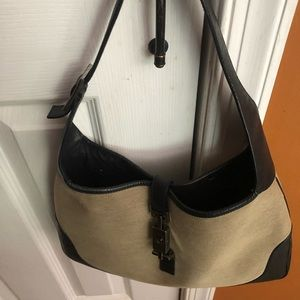 Gucci Jacki o canvas with leather trim